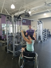 wheelchair lat pull down
