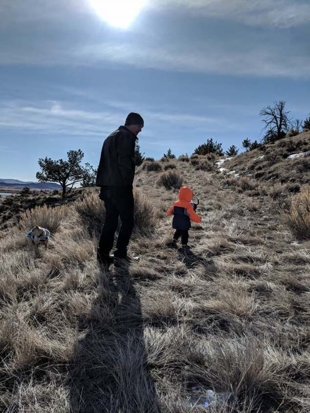 henry and daddy hiking 3-27-18